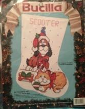 Bucilla My Favorite Pet Stocking Kit Christmas 82922 Vintage 10″ HOLIDAY Dog Cat - $29.37