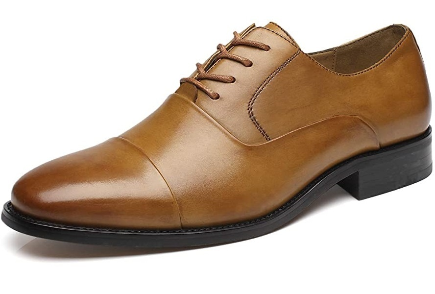Handmade Men Brown Leather Oxford Shoes