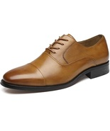 Handmade Men Brown Leather Oxford Shoes - $149.99+