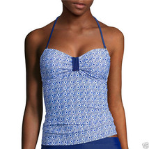 Arizona Tile Wave Bandeaukini Swim Top Juniors Size M, L, XL New Msrp $3... - $14.99