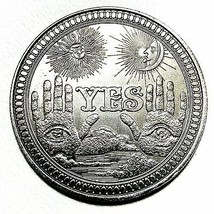 Lucky Yes No Silver Flip Challenge Coin - US SELLER - $16.44