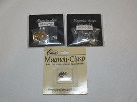 Mujer Lote De Magnético Broches 35272 Plateado 35270 Tono Dorado Nip - $16.03