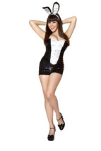 Sexy Roma Sequins Playful Bunny Adult Halloween Complete Costume S/M M/L... - $72.00