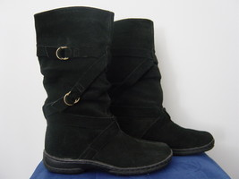 Route 66 Black Leather Pull on Boots (Size 6) New - $25.00