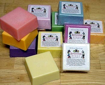 YOU PICK 4 Bars of Handmade Soap by BERRYSWEETSTUFF.COM
