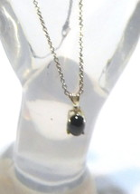 """Blue Sapphire Oval Solitaire Pendant, 925 Sterling Silver, & 18""""L Chain, 1.75TCW - $35.00"""