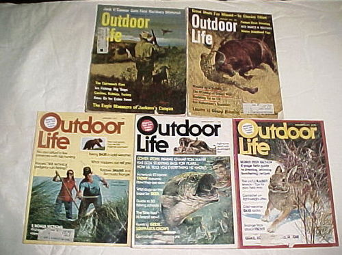 (5) OUTDOOR LIFE= (2)1972-JAN,FEB;+(3)1977-JAN,MAR,NOV