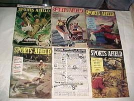 6 Issues-1957-1958 SPORTS AFIELD-Fish/Hunt/Trap - $35.99