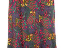 Women's Lu La Roe Dark Green Pink Purple Maxi Skirt In Large Nwt - $39.54