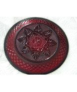 Cris d'Arques Durand (1)  Luminarc Ruby Red Pressed Glass Large Plate - $17.99