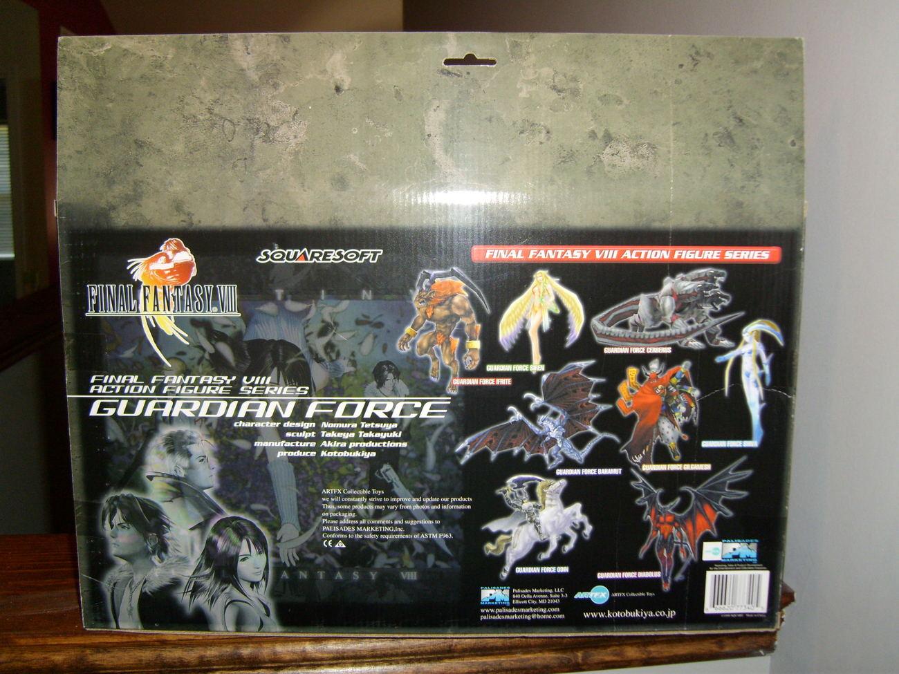 Final Fantasy VIII Guardian Force Odin Action Figure MIB