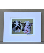 Pot Bellied Pig Art Print Signed Matted Solomon - $15.00