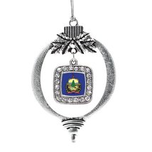 Inspired Silver Vermont Flag Classic Holiday Decoration Christmas Tree Ornament - $14.69