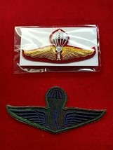 Tower Jump Royal Thai Army Wings Badge PIN and  Patch WingsThai Military 1 Pair  - $14.00
