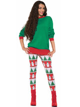 Forum Novelties Women's Snowman and Christmas Tree Adult Leggings, Multi... - $45.17