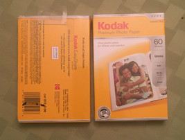 Kodak Premium Photo Paper 60 Sheets 4 x 6 Gloss - Lot of 2 - New - $9.73