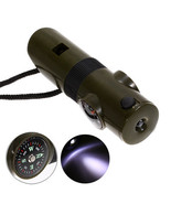 Multifunction Thermometer and Compass Whistle With LED Torch - $9.90