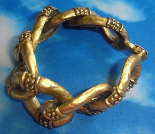 90's Golden Brass Bracelet
