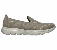 Skechers Shoes Taupe Go Walk Women Super Suck Soft Casual Slip On Comfort 15732 image 2