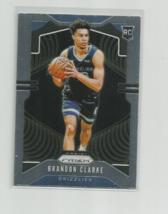 BRANDON CLARKE (Grizzlies) 2019-20 PANINI PRIZM BASKETBALL ROOKIE CARD #266 - $4.95
