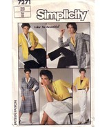 VTG Simplicity 7271 Skirt, Blouse and unlined Jacket size 20 - $12.00
