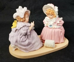 Maud Humphrey Bogart Figurine Tea and Gossip H1301 Two Girls Teacups 767... - $19.34