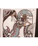 1991 Cleo Teissedre Ceramic Tile Trivet ~ Wall Decor 6 x6 Inch Hand Pain... - $19.99