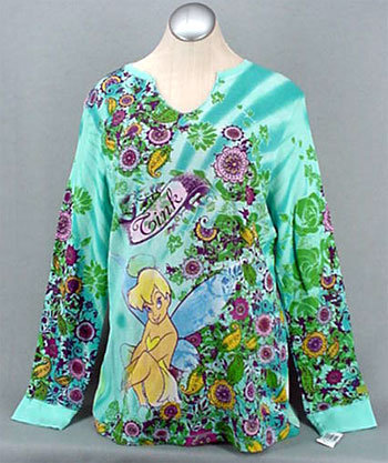 Tinker Bell V-Neck Thermal T-Shirt Disney XL - NWT NEW