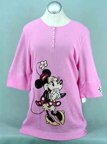 Minnie pink thermal 3 4 ts