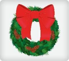 Holiday Wreath Edible Image Cupcake Topper - $12.00