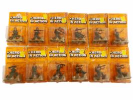 Lot (12) NOS Vintage 1974 Mattel Heroes in Action Card Figure Sealed Package image 1