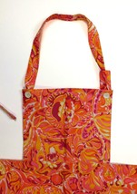 Lilly Pulitzer Apron w/ Bright Orange & Pink Paisley - $225.00