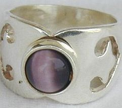 Purple cat eye ring - $28.00