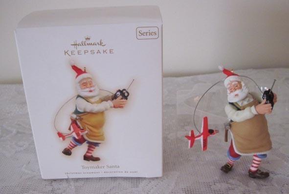 2009 Christmas Toymaker Santa Hallmark No 10 in Series Ornament