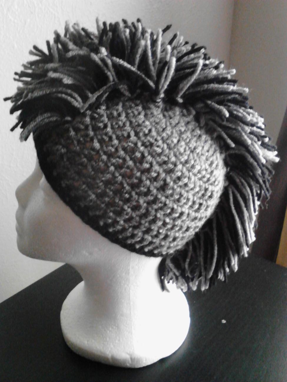 Knit Mohawk Hat Pattern : Kids Crochet Mohawk Hat - Caps & Hats