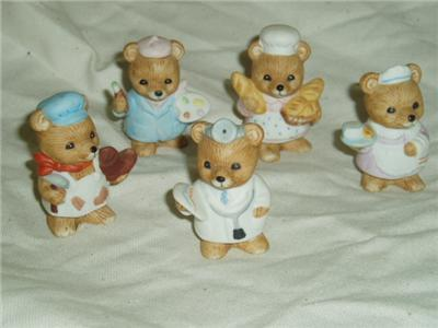 Homco Occupation Bears 8820 RETIRED Home Interiors