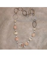 Avon necklace with beads and metal loops new - $9.00