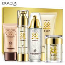 BIOAQUA Silk Protein Cream Lotion Toner Cleanser Concealers Foundation 5... - $26.59