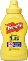3X French's Classic Yellow Mustard 225ml Each Fresh From Canada Fast Ship - $19.55
