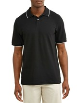 George Men's Short Sleeve Pique Stretch Polo XLT 46-48 Black Soot NEW - $14.84