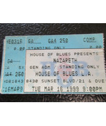 Nazareth House of Blues L.A. Comp 1999 ticket stub - $9.49