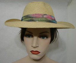 Vintage Cavanagh New York Western Straw Hat With Colorful Band 7 3/8 - $89.99