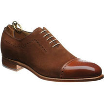 Oxford Brown Two Tone Derby Cap Toe Suede Leather Formal Dress Magnifice... - $129.99+