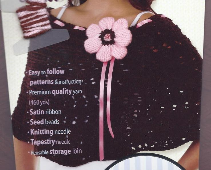Knitting Kit Capelet~with Yarn, Needles, DVD, Pattern