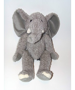 Russ Tusks Elephant Plush Stuffed Animal Gray Floppy Toy  - $14.98