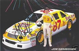 1992 JOE NEMECHEK #87 TEXAS PETE NASCAR POSTCARD SIGNED - $16.75