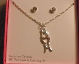 Avon MOM necklace and earring set in box new silvertone - $10.00