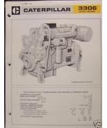 1973 Caterpillar 3306 Diesel Engines Brochure - $7.00