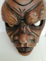 Antique Nikolaus Krampus wood handcarved BLACK FOREST Devil Mask Gothic oddities image 4