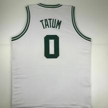 New JAYSON TATUM Boston White Custom Stitched Basketball Jersey Size Men... - $49.99